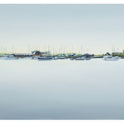 Kate Felton_Ipswich Waterfront 2_oil on canvas_51x102cm